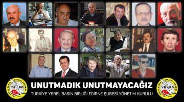"""Gökhan Tuzladan, """"TYBB olarak Edirne ve ilçelerinde vefat eden gazeteciler için kitap bastıracağız"""""""