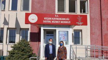 Edirne İl Sosyal Hizmet Merkezi Müdürü Yardımcısı Erdinç Topçu'dan Nergis Mustafapaşa'ya ziyaret