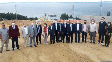 CHP Heyeti Sazlıdere FSRU Liman inşaatında incelemelerde bulundu