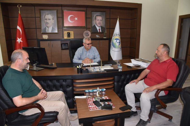 Sezayi Çetin ve Gökhan Şentürk'ten Keşan Belediyesi'ne ziyaret