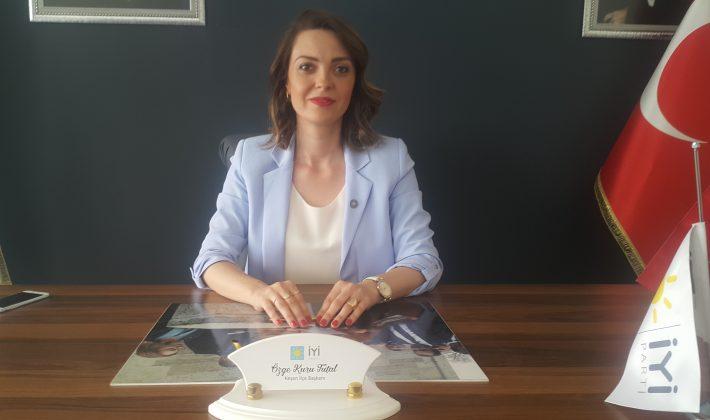 İYİ Parti Keşan İlçe Başkanı Özge Kuru Tutal'dan Seçimle İlgili Sitemize Özel Açıklama