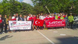 SARDOSLU Bisikletçiler 11 Mayıs'ta Keşan'da karşılandılar. (Videolu Haber)