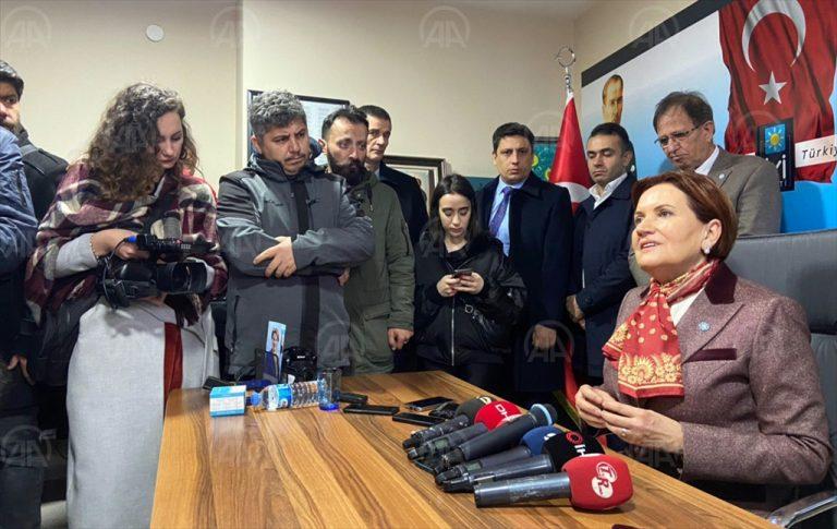 """İYİ Parti Genel Başkanı Akşener: """"Türkiye'nin çıkarı neyi öngörüyorsa onun yanında dururuz"""""""