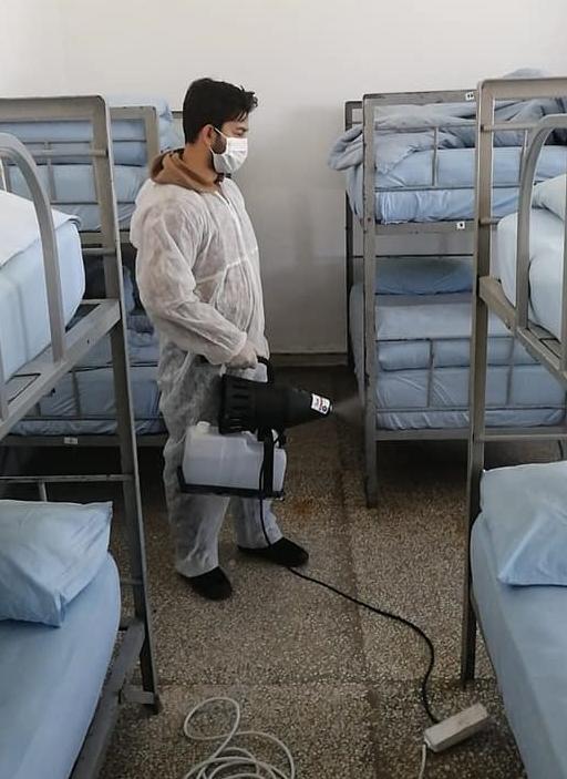 Yunanistan hududundaki karakollar koronavirüse karşı dezenfekte edildi