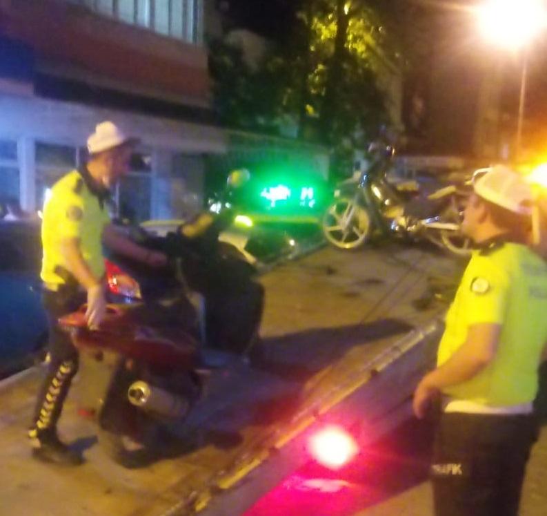 Edirne'de tescilsiz ve modifiyeli motosikletler denetlendi