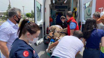 Edremit Ticaret Odası Başkanı Coşkun Salon, trafik kazasında yaralandı