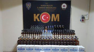 Bursa'da tırda yaklaşık 2 bin şişe kaçak içki ele geçirildi