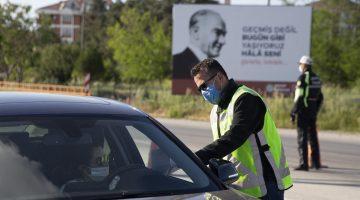Edirne'de sokağa çıkma kısıtlaması denetimi
