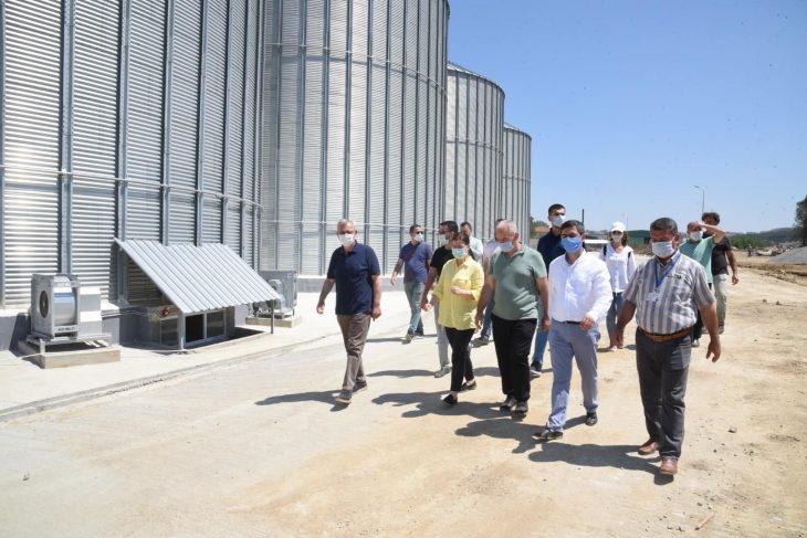 AK Parti Edirne Milletvekili Aksal buğday alım depolarında incelemede bulundu