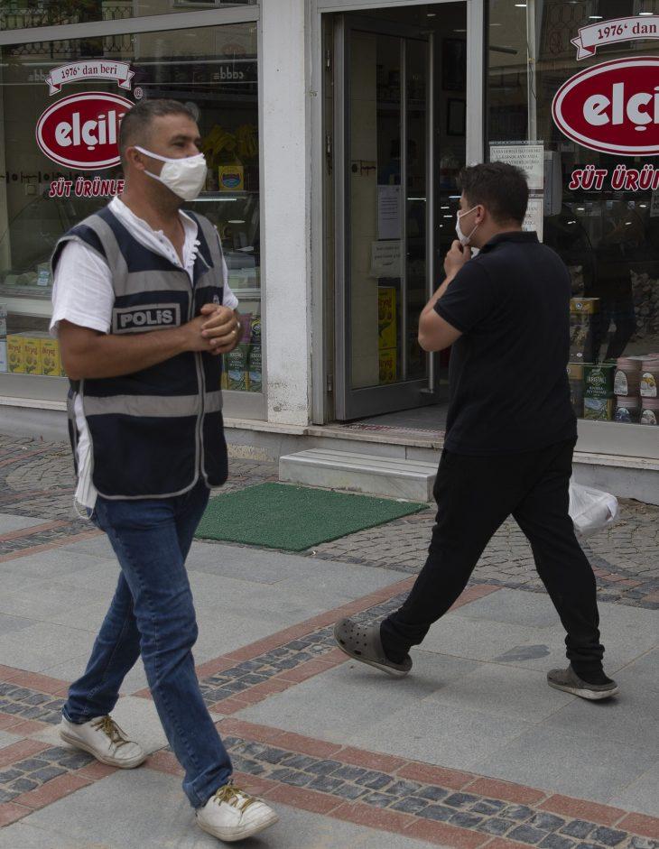 """Edirne'de """"maske ve sosyal mesafe"""" denetimi"""