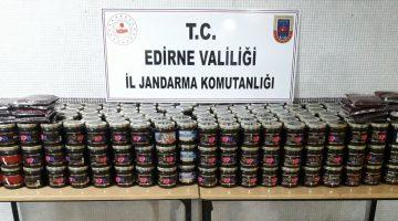 Keşan'da 394 kilogram kaçak nargile tütünü ele geçirildi