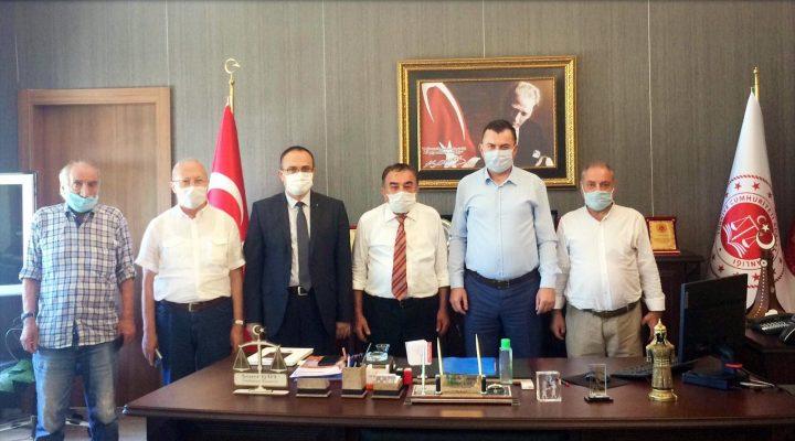 BİK Tekirdağ Müdürü Karakaya ve gazeteciler Tekirdağ Cumhuriyet Başsavcısı Soner Gül'ü ziyaret etti