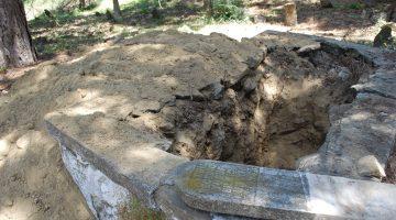 Malkara'da mezarlıkta define arandığı iddiası