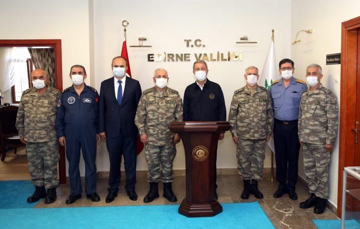 Bakan Akar ve TSK komuta kademesi Edirne'de