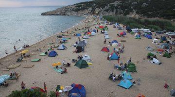Saros Körfezi'nde bayram tatili yoğunluğu yaşanıyor