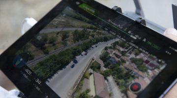 """Trafik ekiplerinden """"drone"""" destekli kontrol"""