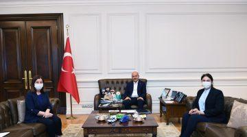 KEFEK Başkanı Aksal ve İl Başkanı İba İçişleri Bakanı Soylu'yu ziyaret etti