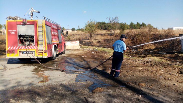 Malkara'da çıkan anız yangını söndürüldü