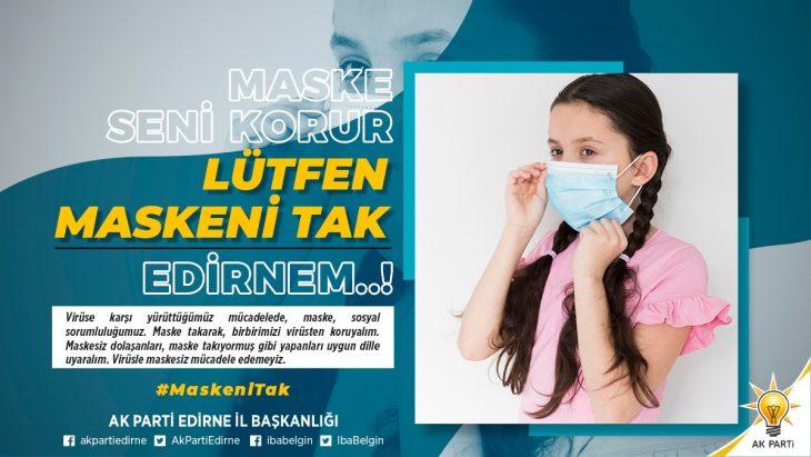 AK Parti'den Edirne'de salgınla mücadele kampanyası