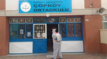 Uzunköprü'deki okullar düzenli olarak dezenfekte ediliyor