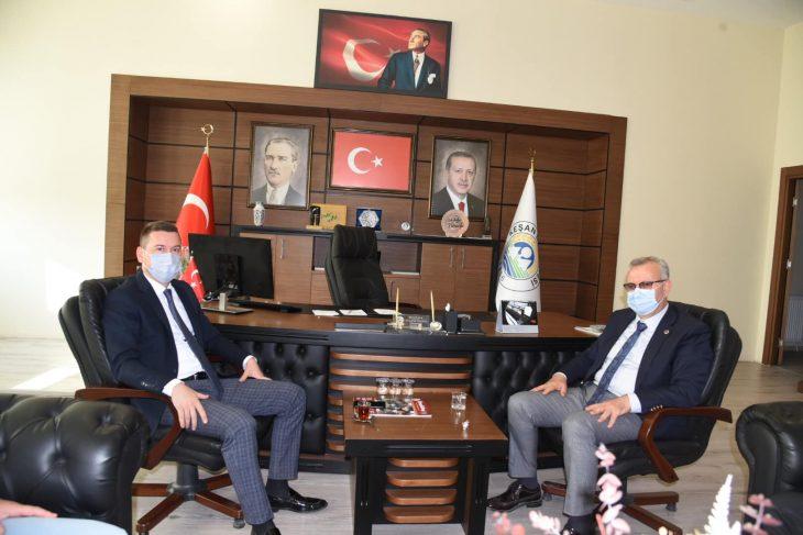 Belediye Başkanı Helvacıoğlu'na ziyaret