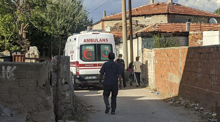 Keşan'da yüksekten düşen kişi yaralandı