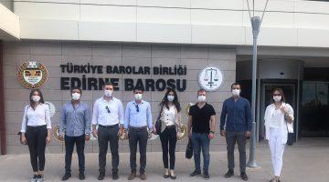 Edirne'de genç avukatlar seçim yaptı