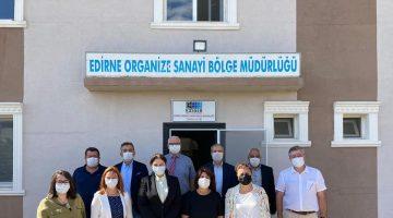 AK Parti İl Başkanı İba, Edirne OSB'de incelemelerde bulundu