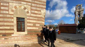 İpsala Kaymakamı ve Belediye Başkanı'ndan tadilatı deam eden camiye ziyaret