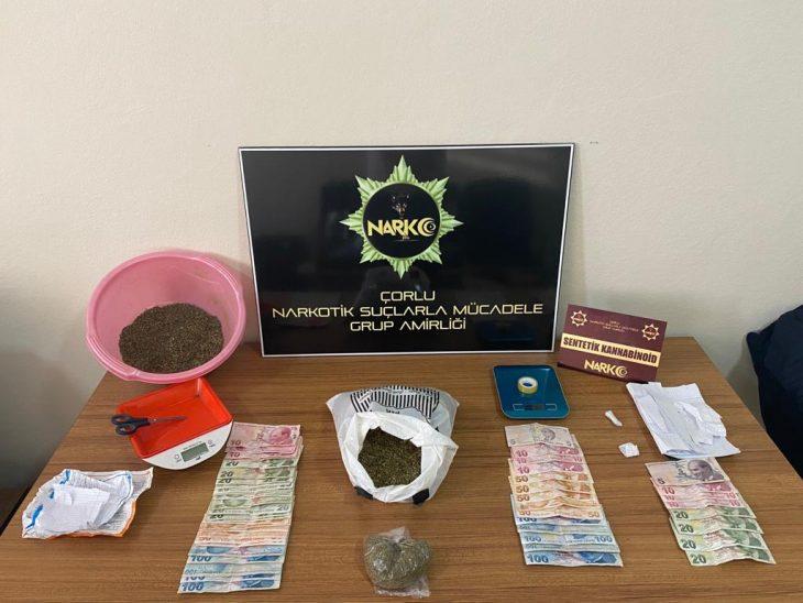 Uyuşturucu operasyonunda biri yabancı uyruklu 4 şüpheli gözaltına alındı