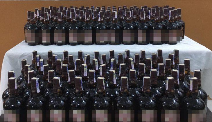 Malkara'da 165 şişe kaçak içki ele geçirildi, 4 şüpheli gözaltına alındı