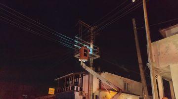 Keşan'da trafoda çıkan yangın nedeniyle enerji kesintisi yaşandı