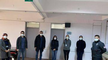 AK Parti Edirne Milletvekili Aksal Keşan'da aşı merkezini ziyaret etti