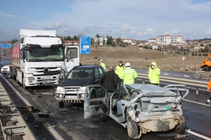 Keşan'da zincirleme trafik kazası 1 ölü