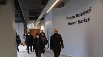 Keşan Belediyesi Kültür Sanat Merkezi'nin yapımında sona gelindi