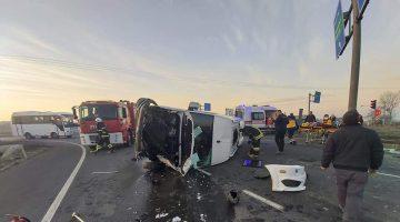 Tekirdağ'da minibüsle hafriyat kamyonu çarpıştı: 6 yaralı