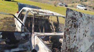 Şarköy'de park halindeyken yanan araç kullanılamaz hale geldi