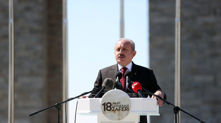TBMM Başkanı Mustafa Şentop, 18 Mart Şehitleri Anma Günü ve Çanakkale Deniz Zaferi Töreni'nde konuştu