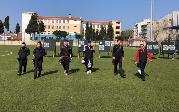 Okçuluk Milli Takımı, Avrupa Grand Prix'sinin hazırlıklarını Gelibolu kampında sürdürüyor