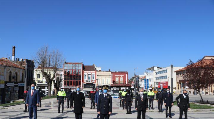 Edirne ve Tekirdağ'da Türk Polis Teşkilatı'nın 176. kuruluş yıl dönümü törenle kutlandı