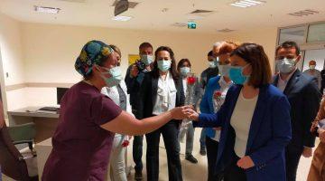 Fatma Aksal'dan Keşan Devlet Hastanesi'ne Hemşireler Günü ziyareti