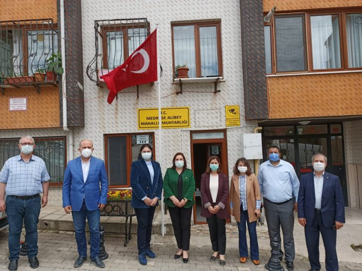 Edirne'de AK Parti heyetinden muhtarlara ziyaret