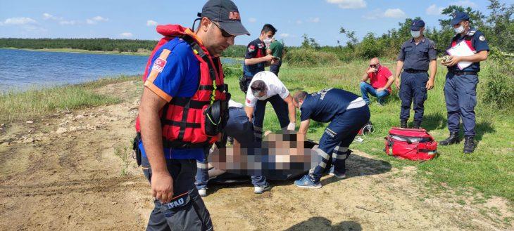 Edirne'de Süloğlu Barajı'nda kayıktan düşen amatör balıkçı hayatını kaybetti