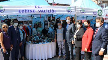 Edirne Valisi Canalp Edirne'nin kadın üreticilerinin Balkanlar'a ve tüm Türkiye'ye örnek olduğunu belirtti