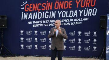 AK Parti'li Kurtulmuş, Gökçetepe'de Gençlik Kolları Eğitim ve Motivasyon Kampı'nı ziyaret etti