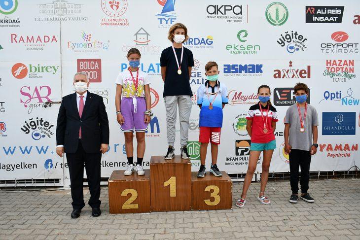 Tekirdağ'da Valilik Kupası Yelken Yarışmaları sonuçlandı