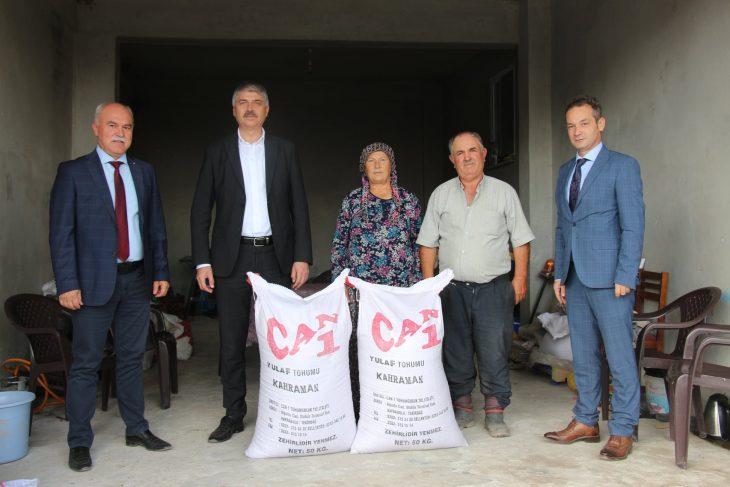 Edirne'de üreticilere yüzde 75 hibeli yem bitkisi tohumu dağıtıldı