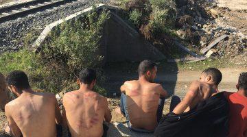 Yunan askerlerince darbedildikleri öne sürülen düzensiz göçmenlerEdirne'de tedavi edildi