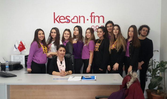 Öğrencilerden Keşan FM'e Ziyaret…