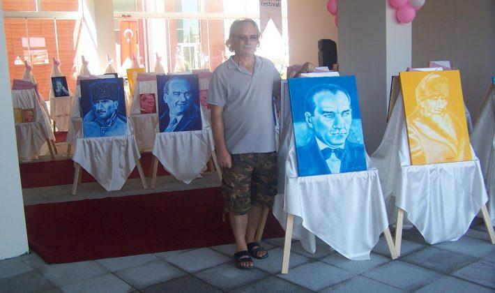 Nazmi Metin, 'Atatürk Resimleri' sergisini Uzunköprü Festivalinde açıyor